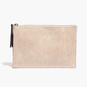 Madewell Leather Colorblock Pouch Clutch